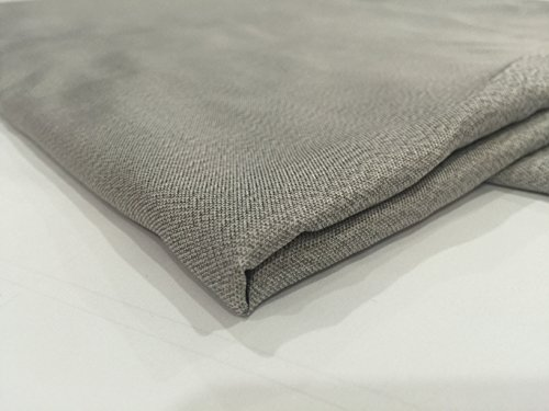 JWtextec 55%Silver Fiber Conductive Fabric Anti Radiation Shielding Fabric (57x39.37 Inches(1.45mX1m))
