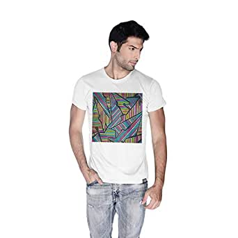 Creo Abstract 02 Retro T-Shirt For Men - L, White
