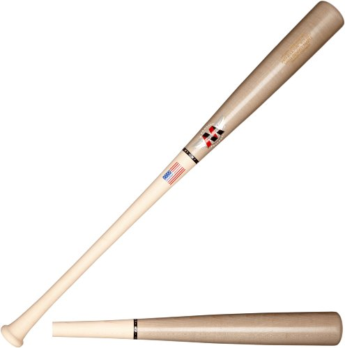 Mpowered Baseball MP-011 Maple High Performance Trajectory Baseball Bat, MLB Grey Barrel with Raw Handle, 32
