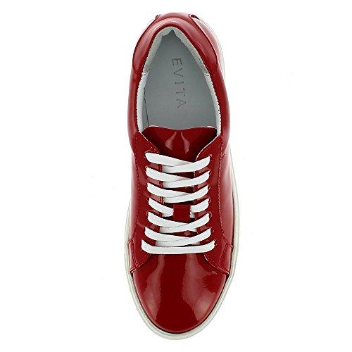 Marisa Cuir Rouge Verni Evita Femme Shoes Baskets P5nawIq