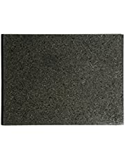 "Kota Japan Premium Non-Stick Natural Black Granite Stone Pastry Cutting Board Slab 12"" X 16"" with No-Slip Rubber Feet for Stability and to Protect your Countertops 