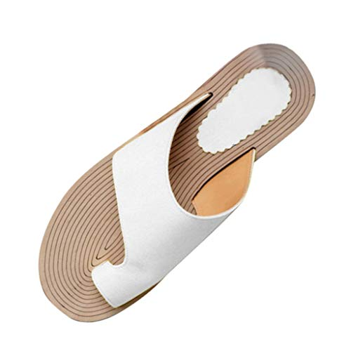 Sandals for Women Platform, Women's Flip Flop Sandal Comfort Open Toe Thong Slid Slippers Beach Travel Shoes White ()