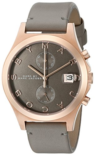 Marc by Marc Jacobs Women's MBM1397 The Slim Watch with Grey Leather Band (Marc Jacobs Charcoal)