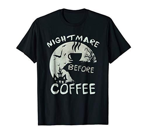 Cute Nightmare Before Coffee Halloween TShirt Funny Mug Gift