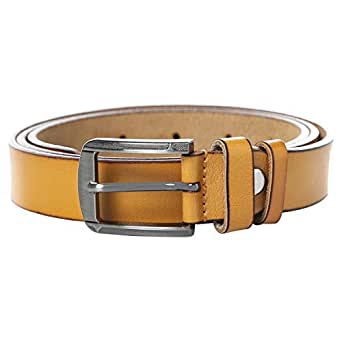 Venus Accessories Yellow Leather Belt For Women
