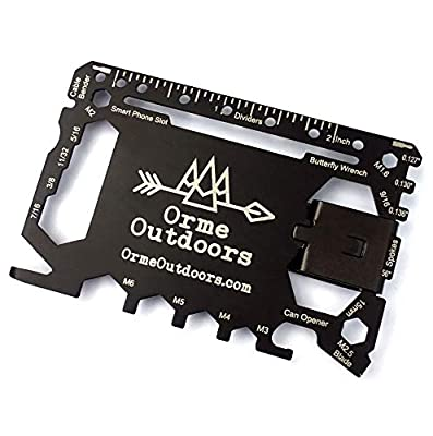 The Original 46 In 1 Multitool Wallet Credit Card Sized Pocket Indoors or Outdoors Survival Tool Best Gifts For Dads Man Cave Gadgets By Orme Outdoors from Orme Outdoors, LLC