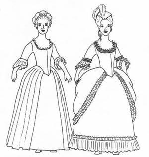 Woman's gown- A Robe Polonaise pattern(Size 12)