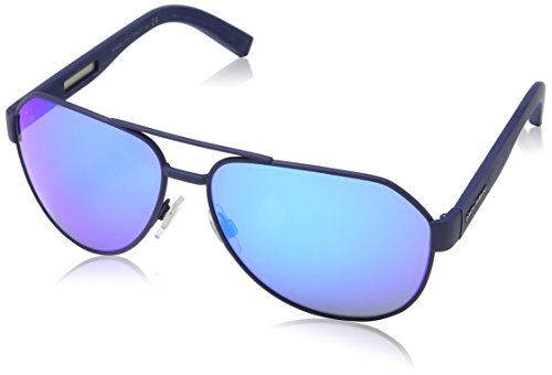 Dolce and Gabbana DG2149 127325 Matte Blue DG2149 Aviator Sunglasses Lens - Sunglasses And Gabbana Blue Dolce