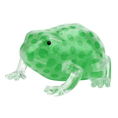 Frog Squeeze Toy (Squeeze Frogs Stress Relief Toy,Littleice Novelty 8cm Bead Stress Ball Sticky Squeeze Frogs Squeezing Stress Relief Toy (Green))