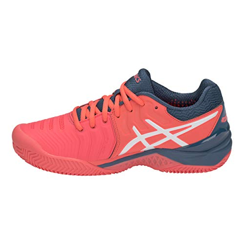 Tennis Gel Asics Clay 7 Chaussures white Femme De resolution Rouge 701 papaya 67HqF