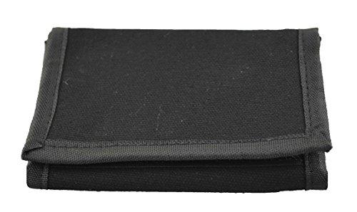Black Nylon Tri Fold Wallet (BKO Trifold Wallet (Black))