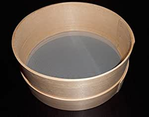 "New Wooden Flour Sifter Sieve Traditional Diameter 28cm-11"" Handmade Wood Brown"