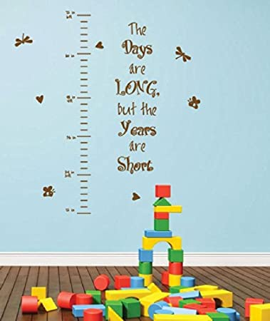 Children Height Chart Wall Quotes Stickers Animal Kid Heart Nursery Wall Decals Wall Art