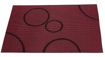 Tischset Rot Mit Kreisen 30 X 45 Cm Amazon De Kuche Haushalt