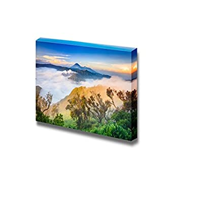 Canvas Prints Wall Art - Bromo Vocalno at Sunrise, East Java, Indonesia | Modern Wall Decor/Home Art Gallery Wraps Giclee Print & Wood Framed. Ready to Hang - 24