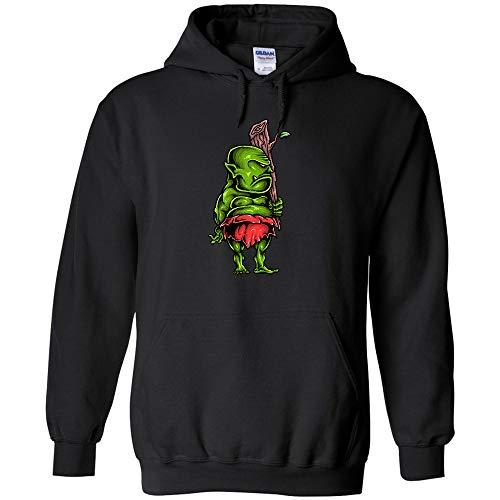 Ogre Cartoon Character Logo Hoodie Halloween Art Jumper Pullover Hooded Fleece Sweatshirt Adult Humor Joke Hood