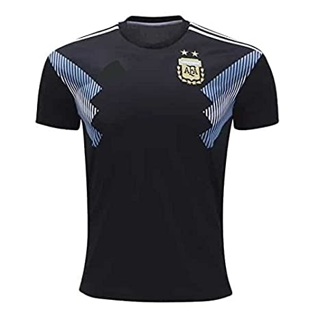 698cb372b Buy Argentina Away Generic Football Jersey- Black Color with Messi Written  at Back Online at Low Prices in India - Amazon.in