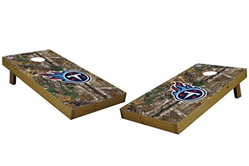 PROLINE NFL Tennessee Titans 2'x4' Cornhole Board Set with Bluetooth Speakers - Xtra Camo Design by PROLINE