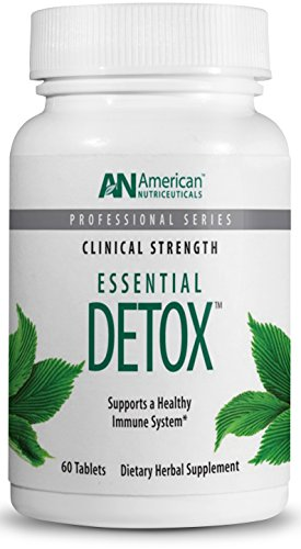 American Nutriceuticals – Essential Detox – 60 Tablets | Professionally Formulated Whole Body Detox & Cleanse | Naturally Cleanse, Purify & Renew | Highly Effective Detox of Environmental Toxins