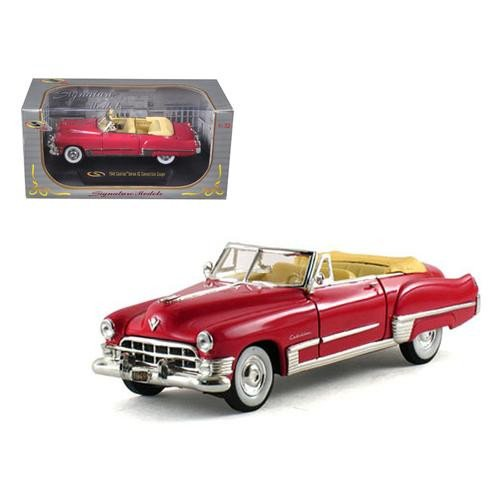 1949 Cadillac Series 62 Convertible Coral Red 1/32 Diecast Model Car by Signature Models ()