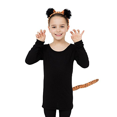 Bristol Novelty DS180 Tiger Set Ears and Tail, Unisex-Child, One Size -