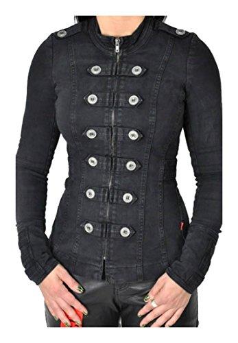 Tripp NYC Washed Steampunk Punk Rocker Gothic Burning Man Army Coat Jacket...