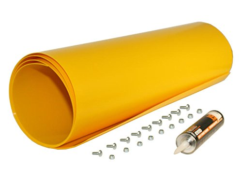 Yellow Poly Snow Plow Shield by Buyers Products