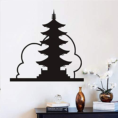 58x60cm antigua torre Landmark DIY Vinilos decorativos chino auto ...