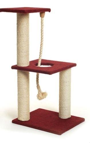 tiragraffi columna 3 Basi con cordel Juegos para gatos adultos y gatitos: Amazon.es: Jardín
