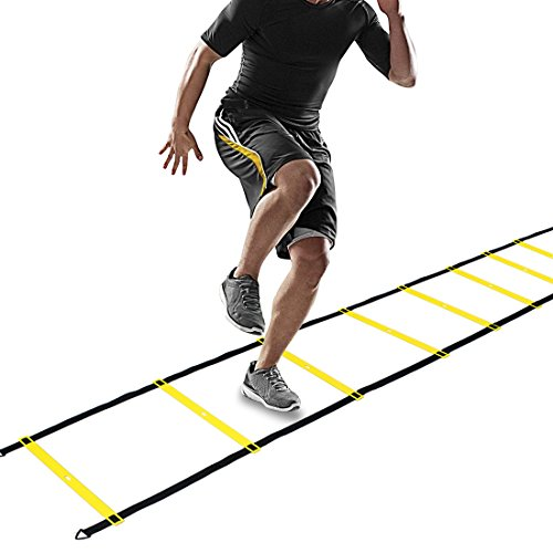 CampFENSE Speed Agility Ladder (Portable) Running Training Hurdles Athletic Football Soccer Basketball Footwork Fitness Exercise with Carry Bag & Training Guide - Canada Black Friday Best