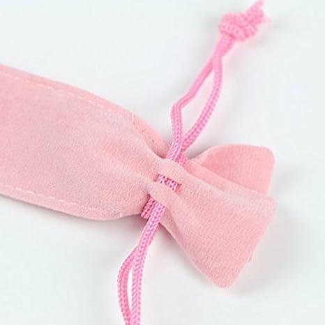 franela suave 2 bolsas de terciopelo para bol/ígrafos con cord/ón y mangas Minsa para regalo de oficina o escuela 17.5 * 3.3cm azul