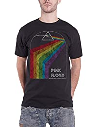T Shirt Dark Side of The Moon Tour 1972 Official Mens Black