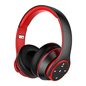Auriculares Bluetooth de Diadema Inalámbricos de NickSea, Auriculares Plegables con Botones Táctiles Cascos Bluetooth con Sonido Hi-Fi Estéreo 20H Reproducción de Música con Orejeras Suave