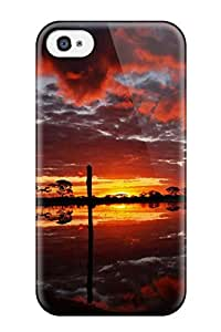 New Nature Geographys Sunset Tpu Case Cover, Anti-scratch MacMillanWallacee Phone Case For Iphone 4/4s