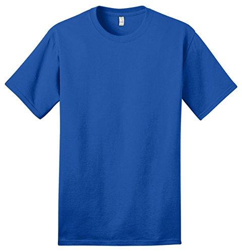 Port & Company Men's Essential 100% Organic Ring Spun Cotton T Shirt M Royal
