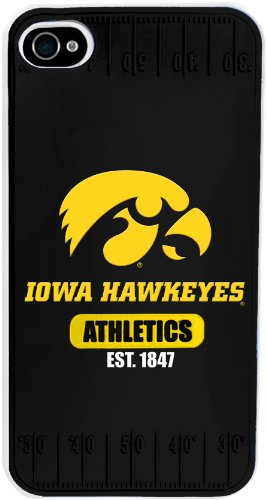 Forever Collectibles NCAA Iowa Hawkeyes Team Logo Hard Apple iPhone 4 / 4S Case (Iowa Hawkeyes Iphone 4 Case)
