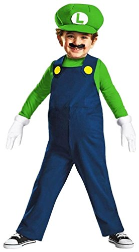 Easy Luigi Costume (Nintendo Super Mario Brothers Luigi Boys Toddler Costume, Small/2T)