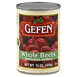 Gefen Whole Beets Kosher For Passover 15 Oz. Pack Of 6.