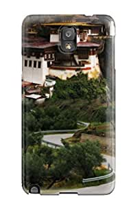 Rugged Skin Case Cover For Galaxy Note 3- Eco-friendly Packaging(building)