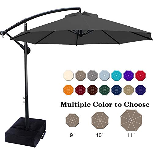ABCCANOPY Patio Umbrellas Cantilever Umbrella Offset Hanging Umbrellas 10 FT