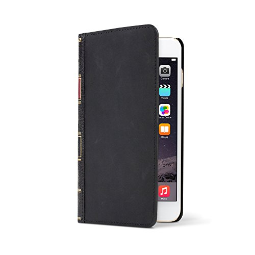 Twelve South BookBook for iPhone 6 Plus/6s Plus, black   3-in-1 leather wallet case, display stand + removable shell