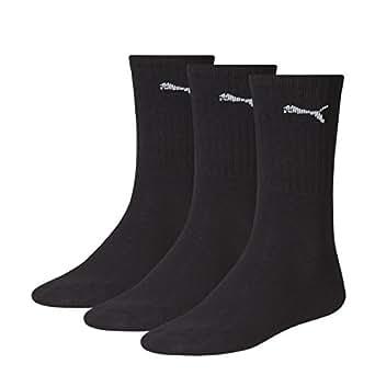 PUMA Men's Sport Socks (3-PACK), Black, 10A