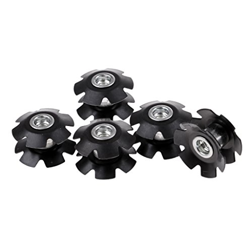 MagiDeal 5Pcs Headset Flanged Star Nut Star Washer for 1-1/8 Threadless Fork Steerers Mountain MTB Bike Bicycle
