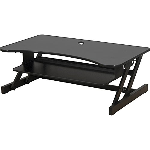 Lorell Deluxe Sit-to-Stand Monitor Riser (LLR99759), Bonus bundle: Includes 2' x 3' Anti-fatigue Mat