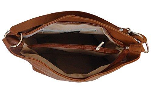 Cognac Vera Donna Borsa Made Bottega Bc214 A Carele In Pelle Spalla Italy YwRnxPFn