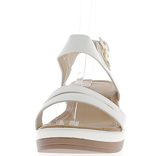 Suelas Blanca 3cm y Cuña Anchas de de 6cm Sandalias twRwxqTf