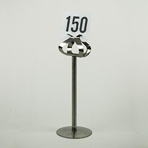 Stainless Steel Harp Number Stand - American Metalcraft SSHP08 8