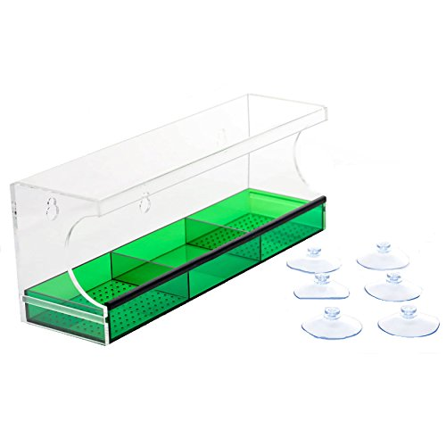 Cheap Outdoor Amor Window Bird Feeder with Suction Cups, XL Size & Colored Tray Attracts Wild Birds, Clear See Through Window Design & 3 Extra Suction Cups – 100% Guarantee by (Green)