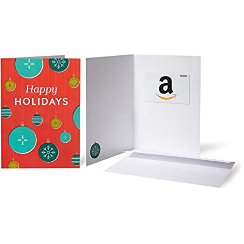 amazon.com gift card in a greeting card (holiday ornaments design) - 41gZEUq2qvL - Amazon.com Gift Card in a Greeting Card (Holiday Ornaments Design)