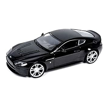 Aston Martin 1:24 V12 Vantage Diecast Model Car(Black/White)